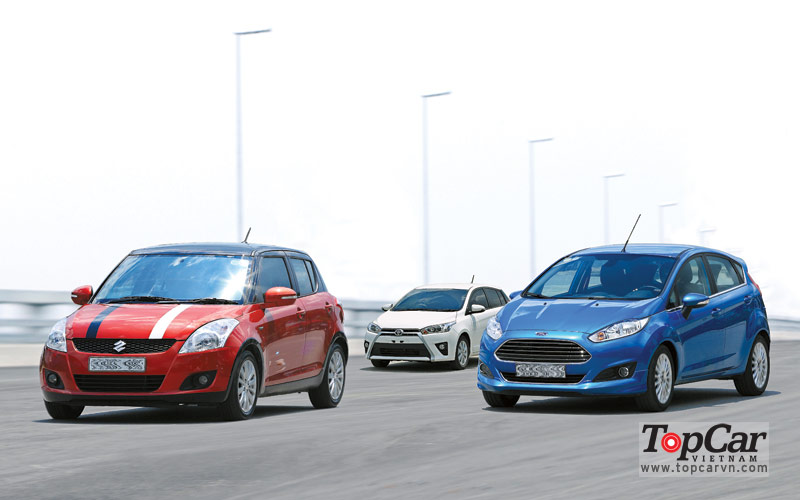 So sánh Toyota Yaris vs Ford Fiesta Ecoboost vs Suzuki Swift